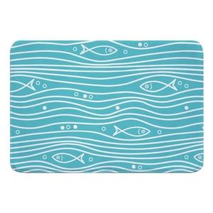 Swimming Fish Memory Foam Bath Mat