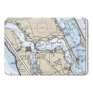 Stuart, Sewall's Point, FL Nautical Chart Memory Foam Bath Mat