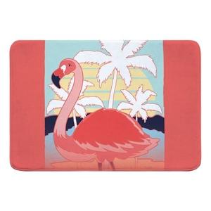 Summer Dreaming Flamingo Memory Foam Bath Mat