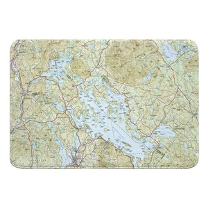 Lake Winnipesaukee, NH Topo Map Memory Foam Bath Mat