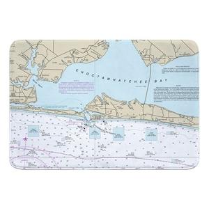 Destin, FL Nautical Chart Memory Foam Bath Mat