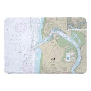 Yaquina Bay and River, Newport, OR Nautical Chart Memory Foam Bath Mat