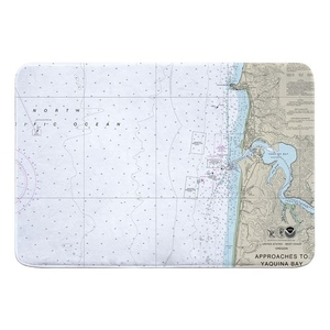 Approaches to Yaquina Bay, OR Nautical Chart Memory Foam Bath Mat