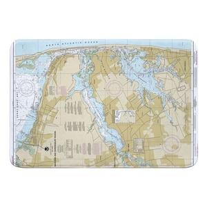 Navesink and Shrewsbury Rivers, Redbank, Rumson Neck, NJ Nautical Chart Memory Foam Bath Mat