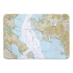San Francisco Bay, Angel Island to Point San Pedro, CA Nautical Chart Memory Foam Bath Mat