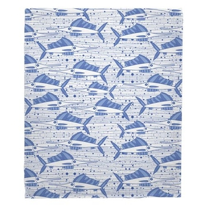 Sailfish School Blue Fleece Throw Blanket