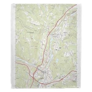 Hanover, NH Topo Map Fleece Throw Blanket