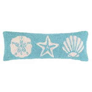 Blue Seashell Elongated Hook Pillow