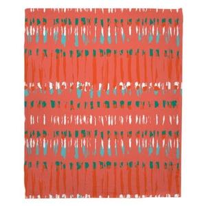 Tribal Coral Fleece Throw Blanket