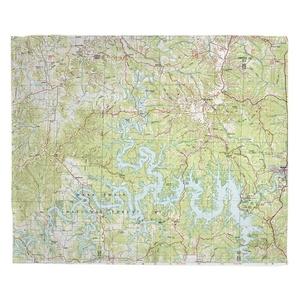 Table Rock Lake, MO (1985) Topo Map Fleece Throw Blanket