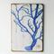 Coral Blue Floorboard Art