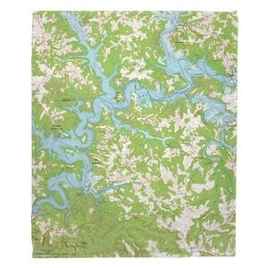Nolin Lake, KY (1966) Topo Map Fleece Throw Blanket