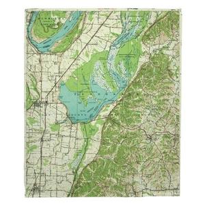 Reelfoot Lake, TN (1956) Topo Map Fleece Throw Blanket