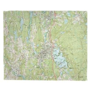 Webster, MA (1982) Topo Map Fleece Throw Blanket