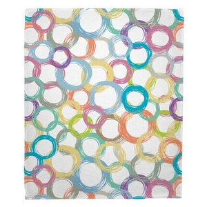 Coiled Fleece Throw Blanket