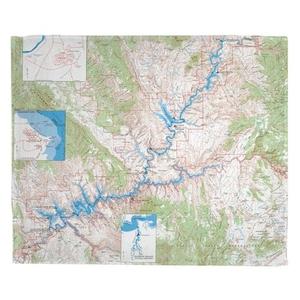 Glen Canyon National Recreation Area, UT (1969) Topo Map Fleece Throw Blanket