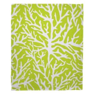 Coral Lime Fleece Throw Blanket