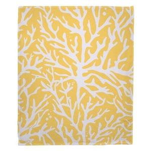 Coral Yellow Fleece Throw Blanket