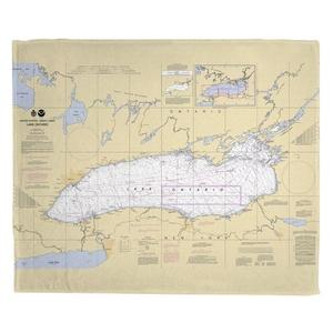 Lake Ontario Fleece Throw Blanket
