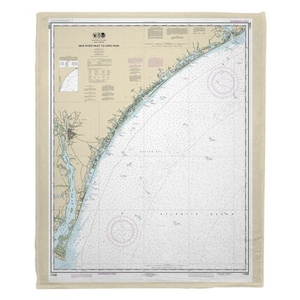 New River Inlet to Cape Fear, NC Nautical Chart Fleece Blanket