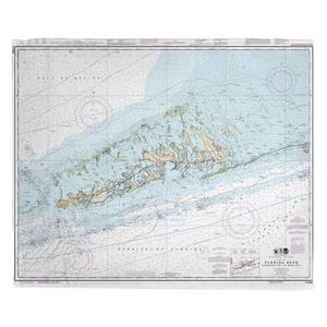 Sombrero Key to Sand Key, FL Nautical Chart Fleece Throw Blanket
