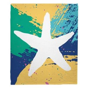 Bimini Starfish Fleece Throw Blanket