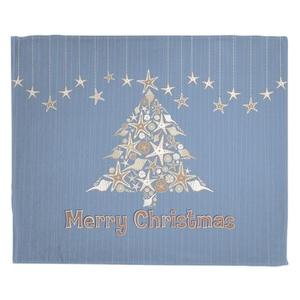 Seashell Christmas Tree Fleece Throw Blanket