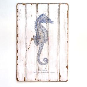 Seahorse Floorboard Art