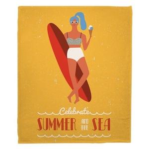Surfer Girl - Val Fleece Throw Blanket