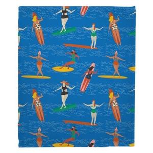 Surfer Girl - Surf Party Fleece Blanket