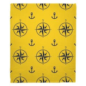 Duck Key - Compass Rose Fleece Throw Blanket
