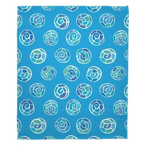 Nautilus Shell Sketch Fleece Throw Blanket