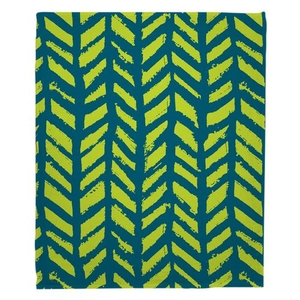 Grand Bahama - Drifter Turquoise & Lime Fleece Throw Blanket