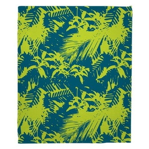 Walker's Cay - Island Getaway Turquoise & Lime Fleece Throw Blanket