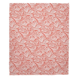 Dreamy Sea Coral Fleece Throw Blanket
