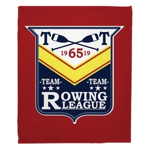 Rowing League Fleece Throw Blanket