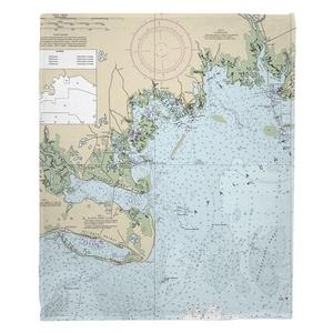 Apalachee Bay, FL Fleece Throw Blanket