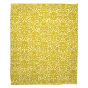 Art Deco Goldenrod Fleece Throw Blanket