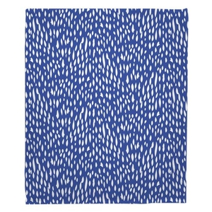 Hipster Cobalt Fleece Throw Blanket