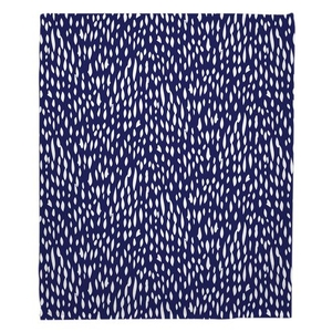 Hipster Navy Fleece Throw Blanket