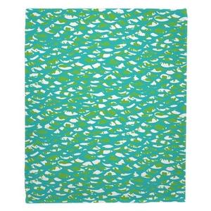 Fish Scales Fleece Throw Blanket
