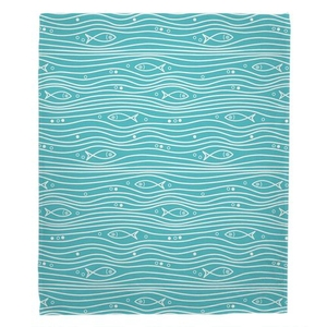 Swimming Fish Fleece Throw Blanket
