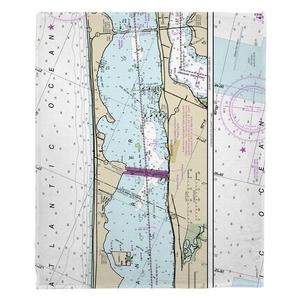 Jensen Beach, FL Nautical Chart Fleece Throw Blanket