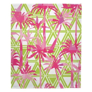 Palm Resort Fleece Throw Blanket