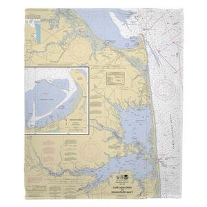 Cape Henlopen to Indian River Inlet, DE Nautical Chart Throw Blanket