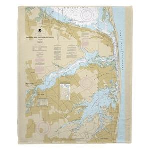 Navesink and Shrewsbury Rivers, Redbank, Rumson Neck, NJ Nautical Chart Fleece Throw Blanket