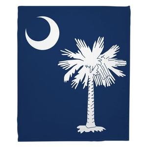 South Carolina Flag Fleece Throw Blanket