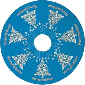 Seashell Christmas Tree Skirt - Blue