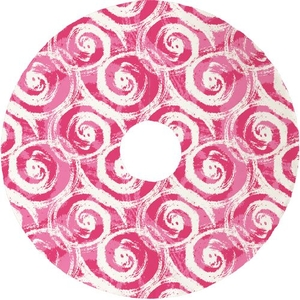 Swirls Christmas Tree Skirt - Pink