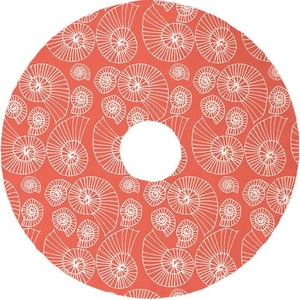 Nautilus Outline Christmas Tree Skirt - Coral